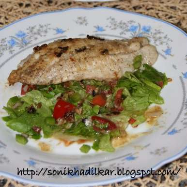 Grilled hammour with salad, How to make Grilled hammour with salad