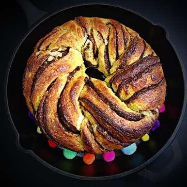 Photo of Chocolate Swirl Brioche Bread by Sonia Shringarpure at BetterButter