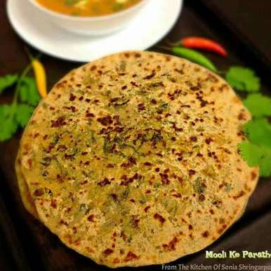 Photo of Mooli Ke Parathe by Sonia Shringarpure at BetterButter