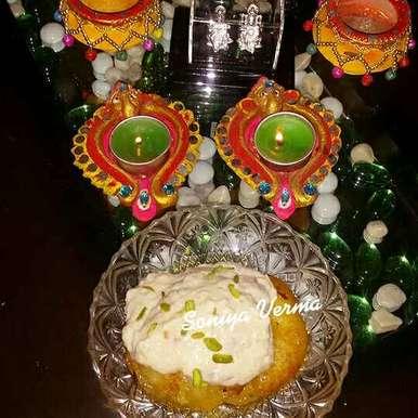 Apple malpua with bread rabdi recipe in Hindi,एप्पल मालपुआ ,ब्रेड की रबड़ी, Soniya Verma