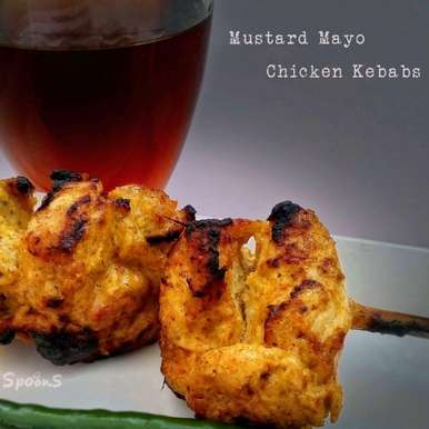 Photo of Mustard Mayonnaise Chicken Kebab by Souvik Mukherjee at BetterButter