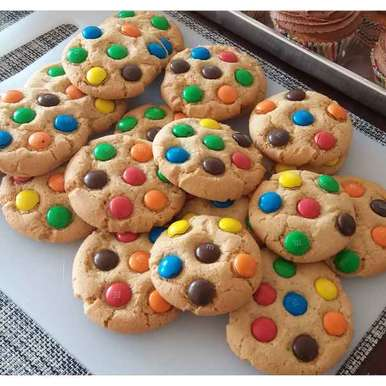 Photo of M&m cookies by Sreemoyee Bhattacharjee at BetterButter
