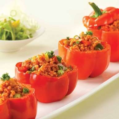 Photo of Nutrela Soya Stuffed Capsicum by Nutrela Soya at BetterButter