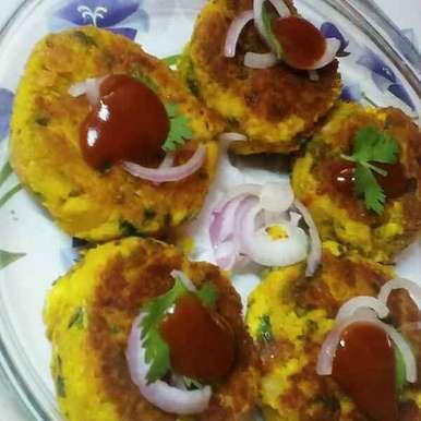 Chhole paneer tikki recipe in Hindi,छोले पनीर टिक्की, subhadra arya