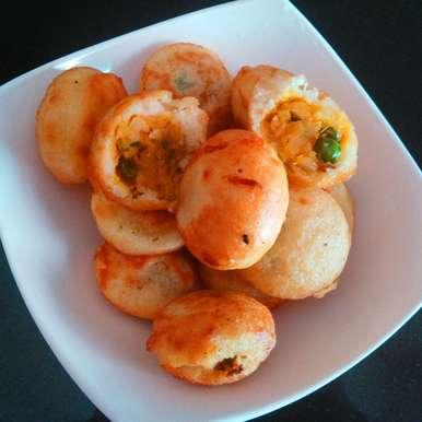 Sweet Potato Bonda in Appe Pan, How to make Sweet Potato Bonda in Appe Pan
