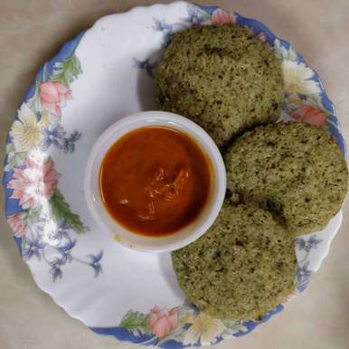 Spinach Idli recipe in Telugu,పాలక్ ఇడ్లి, Sudha Badam