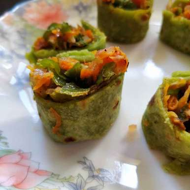 Photo of Stuffed Spinach Rolls by Sudha Badam at BetterButter