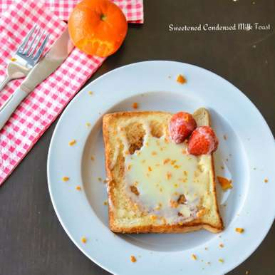 Photo of Sweetened condensed milk toast with orange zest by Suganya Hariharan at BetterButter