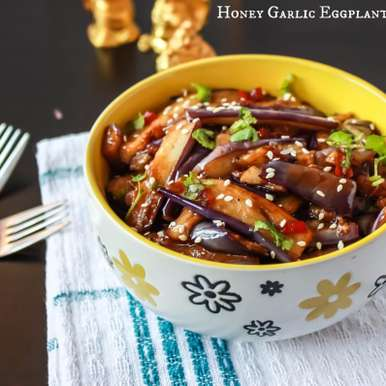 Photo of Honey Garlic Eggplant  by Suganya Hariharan at BetterButter