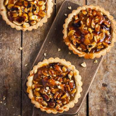 Photo of Nutty Caramel Tarts by Sujata Limbu at BetterButter