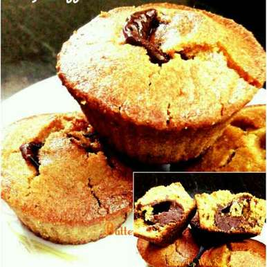 Photo of Eggless Orange Muffins with Chocolate Inside by Sujata Roy at BetterButter