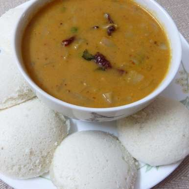 Photo of IDLI SENAGAPINDI KOORA - spicy potato gravy with idli by Sujatha Ratnala at BetterButter
