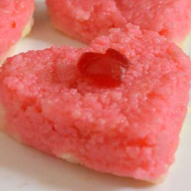 Photo of Valentine's Day Special Vanilla & Rose Milk Burfi Hearts by Sundari Pnp at BetterButter