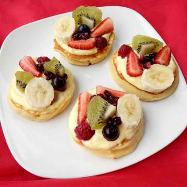 Photo of Fruity Pizza with orange cream cheese by Sushama Samanta at BetterButter