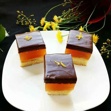 Photo of Jelly Cake with Chocolate ganache by Sushama Samanta at BetterButter