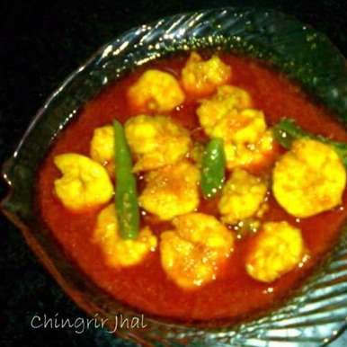 Photo of CHINGRIR TEL JHAL OR PRAWN IN RED CURRY by Swagata Mondal at BetterButter