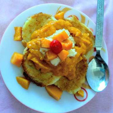Photo of French toast with mango coolie by Swagata Roy at BetterButter