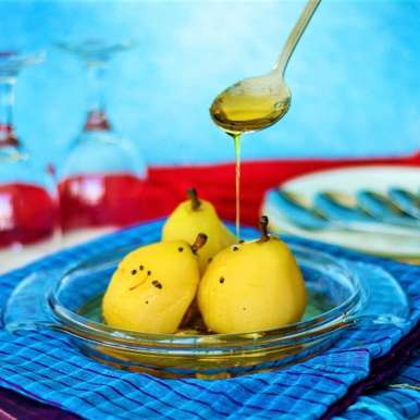 Photo of SAFFRON AND CARDAMOM POACHED PEARS by Swathy Nandhini at BetterButter