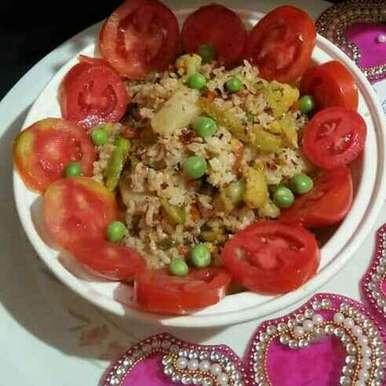 VEG pulao recipe in Bengali,VEG pulao, Swati Bapat