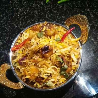 Photo of shrimps biriyani with leftovet rice by Swati Mookherjee at BetterButter