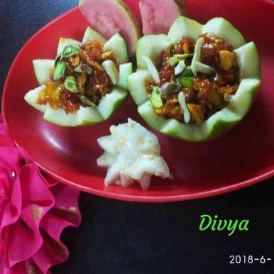 Gua halva recipe in Telugu,జామ కాయ హల్వ, Divya Konduri