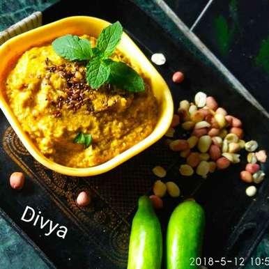 Tindora ground nut chutneu recipe in Telugu,దొండకాయ పల్లీల పచ్చడి, Divya Konduri