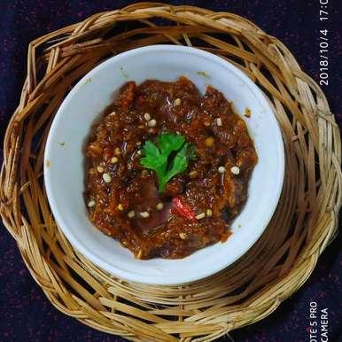 Photo of Red chilli dates chutney by Divya Konduri at BetterButter
