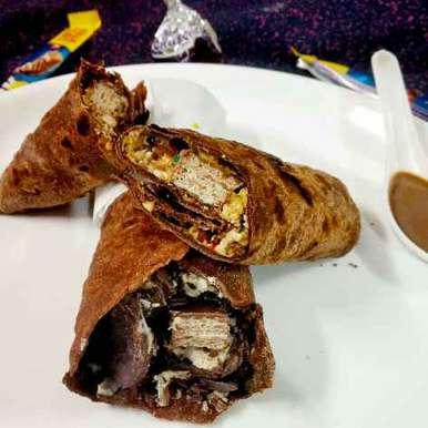 Photo of Chocolate peanut butter khati role by Divya Konduri at BetterButter