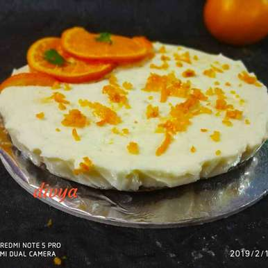 Photo of Chaco cookie orange cheese cake by Divya Konduri at BetterButter