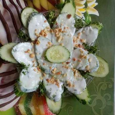 Photo of Cucumber salad with yogurt dressing by SweetySanjay Tayal at BetterButter