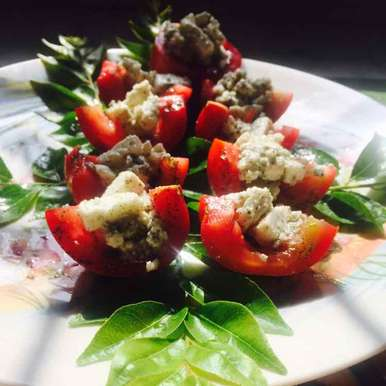 Photo of Tomato and cottage cheese salad by SweetySanjay Tayal at BetterButter