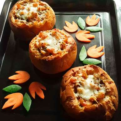 Photo of Macaroni stuffed bread by Tamali Rakshit at BetterButter