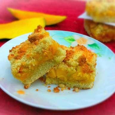 Photo of Mango Crumb Bar by Tamali Rakshit at BetterButter