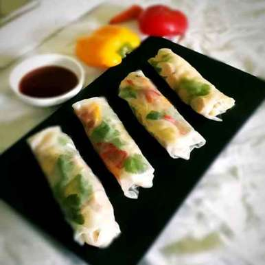 Photo of Rice paper rolls by Tanhisikha Mukherjee at BetterButter