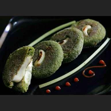 Photo of Cheese stuffed Hara Bhara Kebabs by Tanushree Aich at BetterButter
