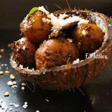 Photo of Ennai Urulai Kizhangu Varuval/ Chettinad Potato Roast by Tanushree Bhowmik at BetterButter