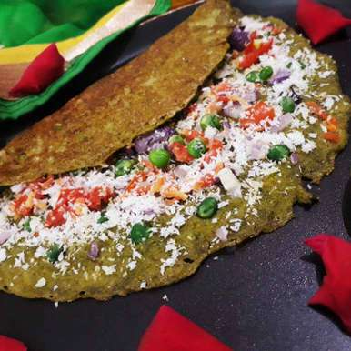 Photo of Spinach Cheese dosa by Tanushree Jha at BetterButter