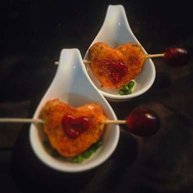 Photo of Maggi and cheese heart bites. by Suktara Pereira at BetterButter