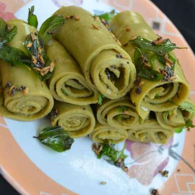Photo of Khandvi (In Pressure Cooker) by Tejaswi Yalamanchi at BetterButter