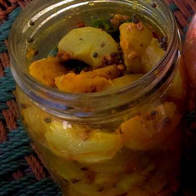 Photo of Instant Amla Pickle | Instant Indian Gooseberry Pickle by Tikuli Dogra at BetterButter