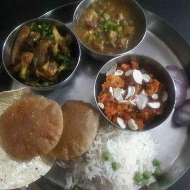 Photo of Bhojan thal by Tiwari Mohini at BetterButter