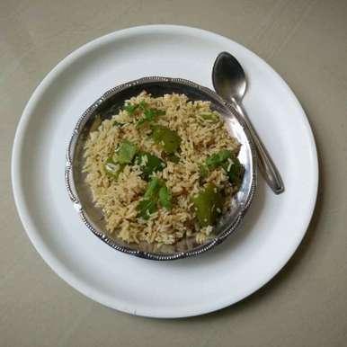 CAPSICUM RICE recipe in Telugu,క్యాప్సికమ్ రైస్, రమ్య వూటుకూరి
