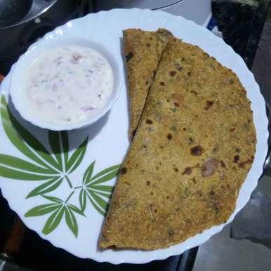 Method paratha  recipe in Telugu,మేథీ పరాటా, రమ్య వూటుకూరి