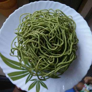 Mint sev  recipe in Telugu,పుదీనా కారప్పూస, రమ్య వూటుకూరి