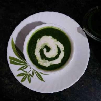 Palak soup recipe in Telugu,పాలక్ సూప్, రమ్య వూటుకూరి