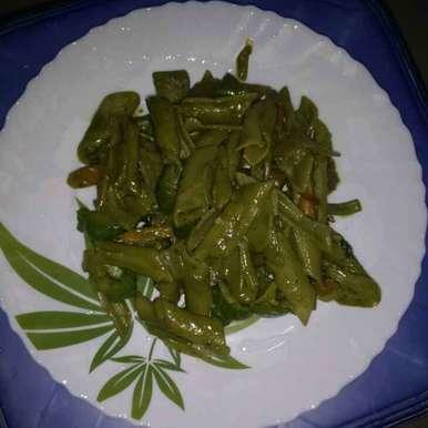 Vegetable spinach pasta  recipe in Telugu,వెజ్ పాలక్ పాస్తా, రమ్య వూటుకూరి