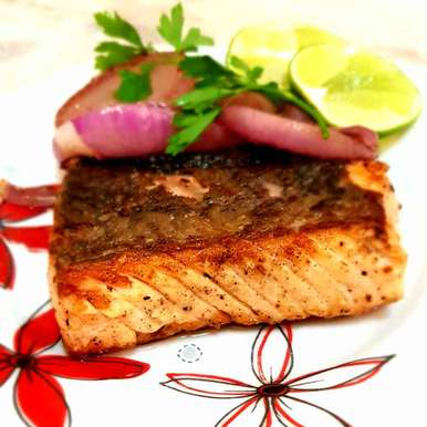 Photo of Pan seared pepper Salmon by Tulika Biswas at BetterButter
