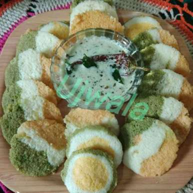 Photo of Tricoloured Idli by Ujwala Nirmale at BetterButter