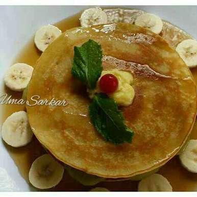 Photo of Banana pancake by Uma Sarkar at BetterButter
