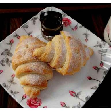 Photo of Sugar coated Croissants .. by Uma Sarkar at BetterButter